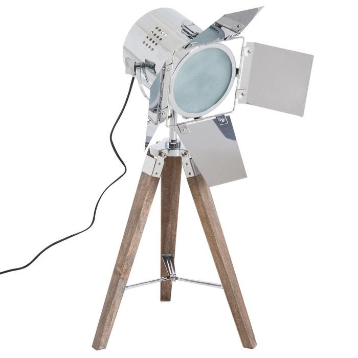 Lampadaire Trepied Projecteur Vintage Gris Homcom La Redoute