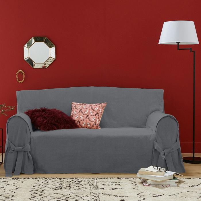 hoes voor canap linnen katoen jimi la redoute interieurs. Black Bedroom Furniture Sets. Home Design Ideas