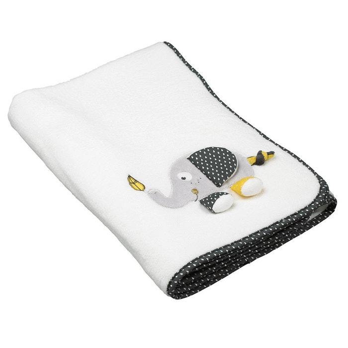 couverture b b blanche babyfan de taille 75x100cm sauthon blanc sauthon baby deco la redoute. Black Bedroom Furniture Sets. Home Design Ideas