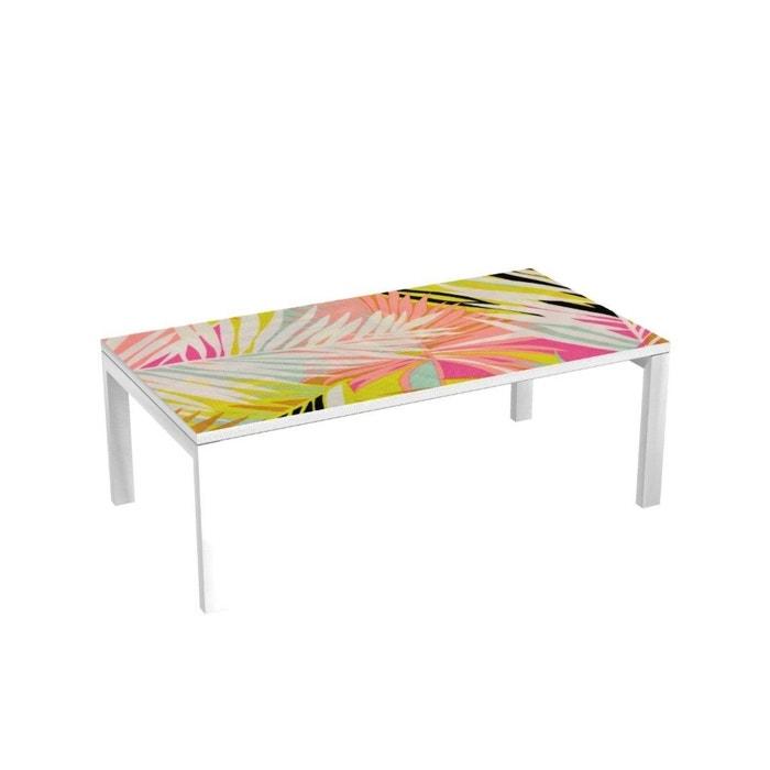Table basse pieds m talliques 114x60 cm palma Table basse multicolore