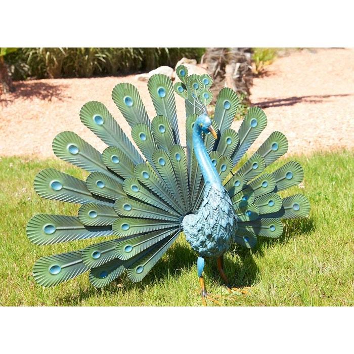 Paon d coratif peacock couleur unique nortene la redoute for Jardin accessoires decoratifs