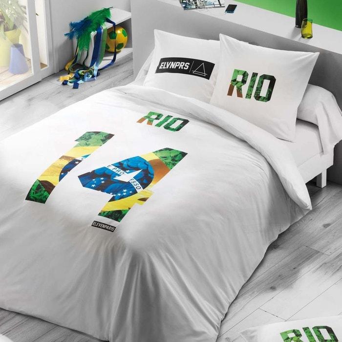 housse de couette rio blanc eleven paris la redoute. Black Bedroom Furniture Sets. Home Design Ideas