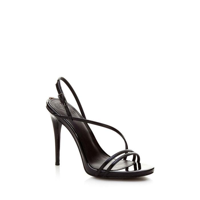 Sandales tilda vernies noir Guess