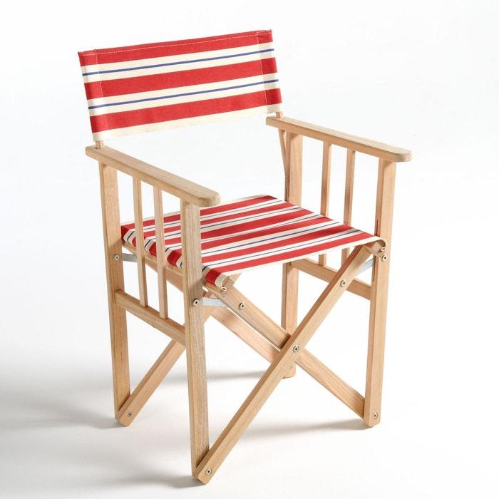 fauteuil de metteur en scne pliable rayures do la redoute interieurs - Fauteuil Metteur En Scene