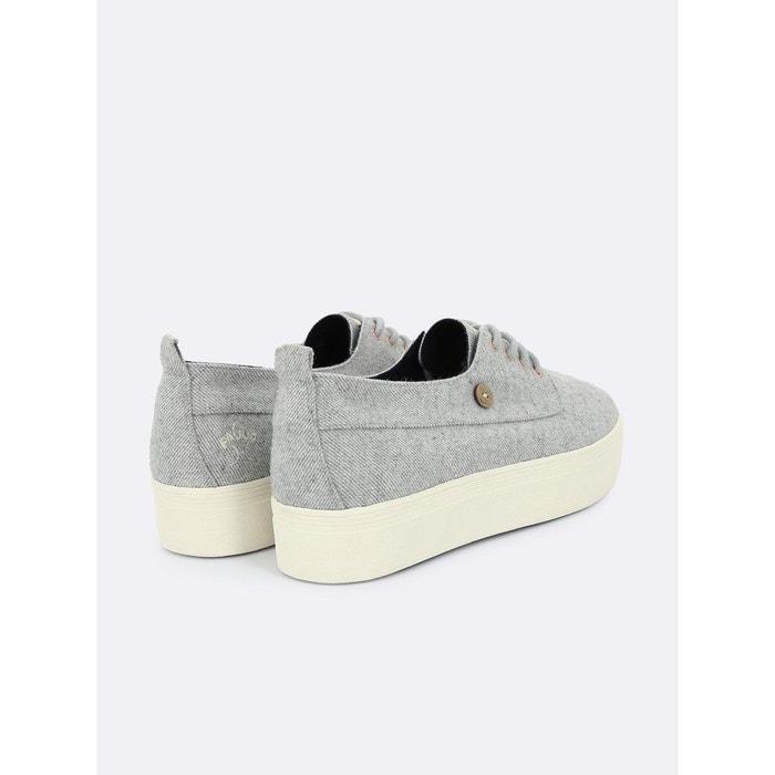 Baskets en coton figlone gris gris Faguo