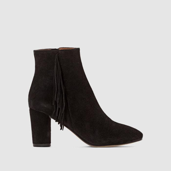 afbeelding Boots in suèdeleer met hak en franjes Darda JONAK