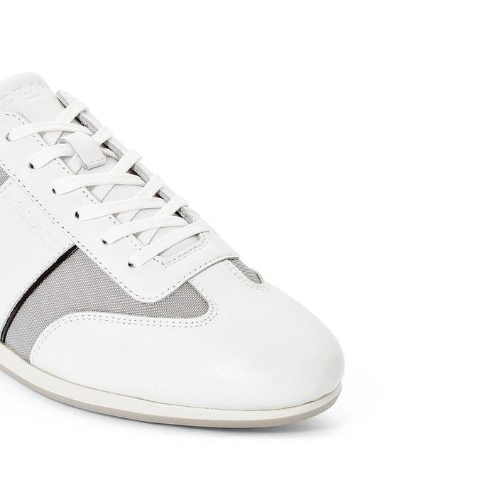 Baskets plizy blanc /argent Azzaro