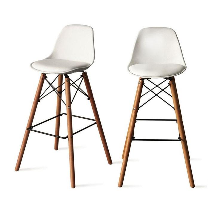 lot de 2 tabourets de bar 74cm ormond steelwood drawer. Black Bedroom Furniture Sets. Home Design Ideas