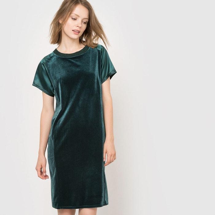 robe de soir e bi mati re vert sapin la redoute collections la redoute. Black Bedroom Furniture Sets. Home Design Ideas