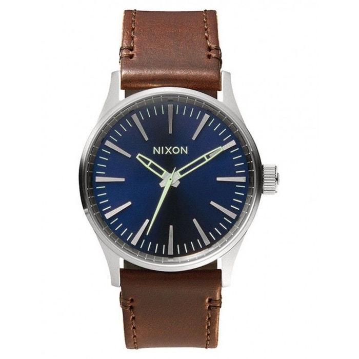 Montre sentry 38 leather bleu Nixon | La Redoute En Ligne Exclusif UJ78X4Ia