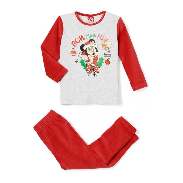 7efc3866b Pijama de navidad 2 prendas de terciopelo 2 - 6 añ gris   rojo Minnie Mouse