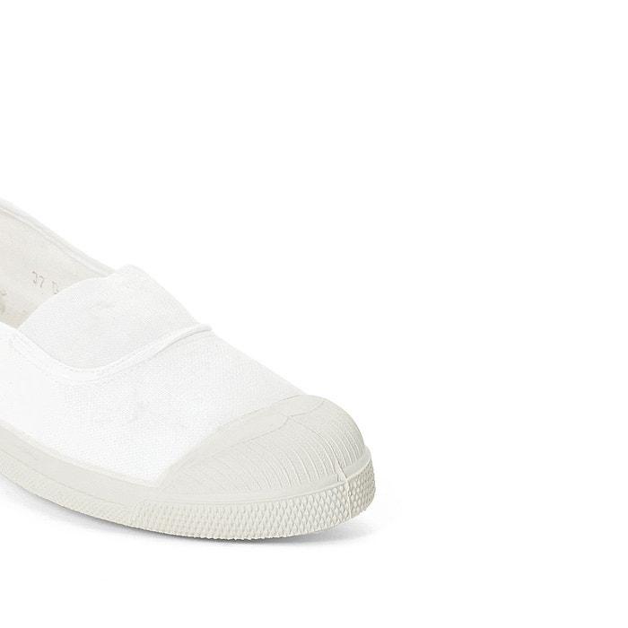 Baskets basique élastique blanc Bensimon