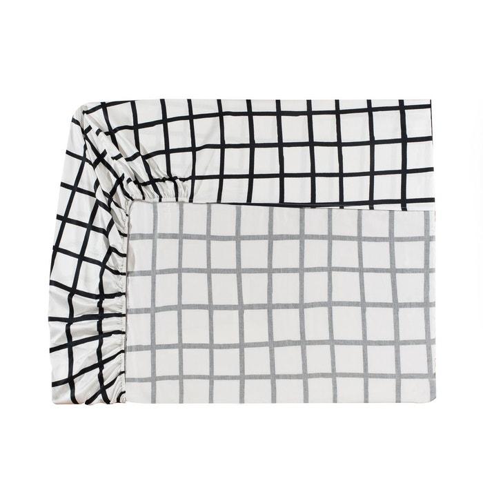 drap housse blason en satin de coton blanc blanc essix la redoute. Black Bedroom Furniture Sets. Home Design Ideas