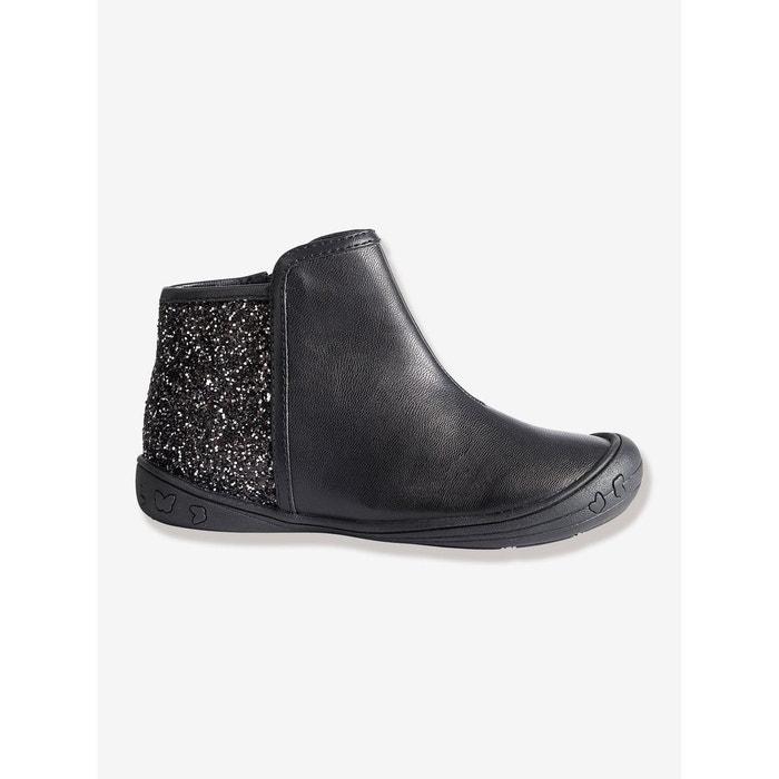 97714d608e4e2 Boots fille noir foncé uni Vertbaudet