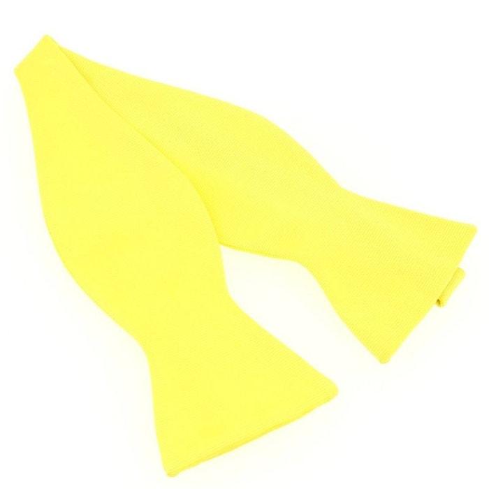 N?ud papillon à nouer en soie, jaune citron, fait à la main jaune Tony Et Paul | La Redoute