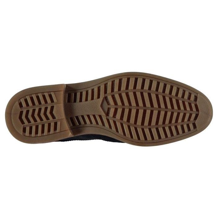 Chaussures derbies en cuir bleu marine Ben Sherman