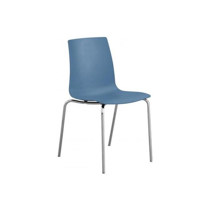 Chaise Design Bleue Mat Arc Bleu Declikdeco
