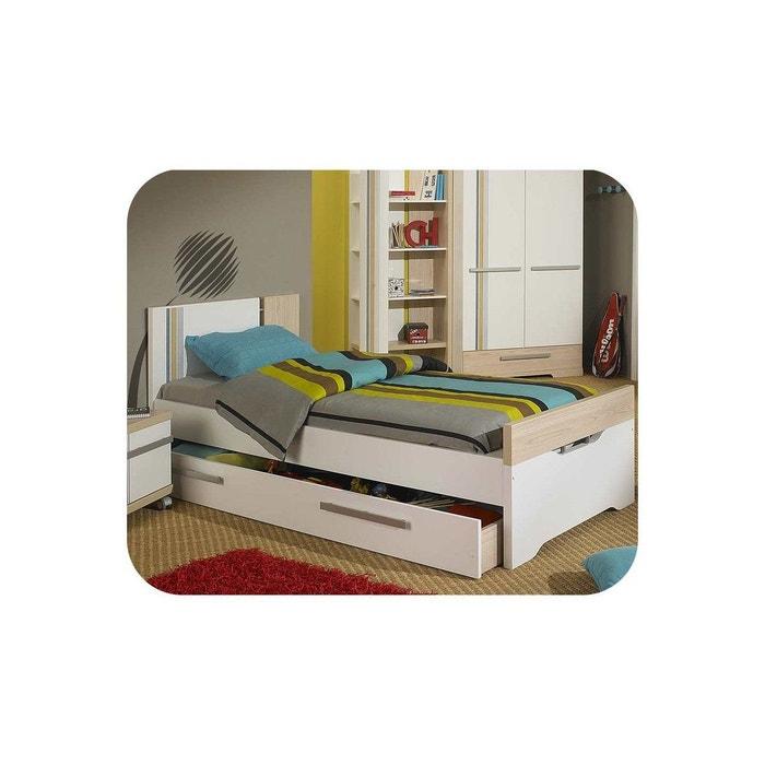 lit enfant bora 90x200 cm blanc ma chambre d 39 enfant la. Black Bedroom Furniture Sets. Home Design Ideas