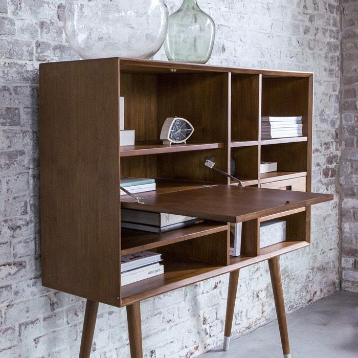 bureau haut en bois de teck 130 magda 50 39 s teck teint tikamoon la redoute. Black Bedroom Furniture Sets. Home Design Ideas