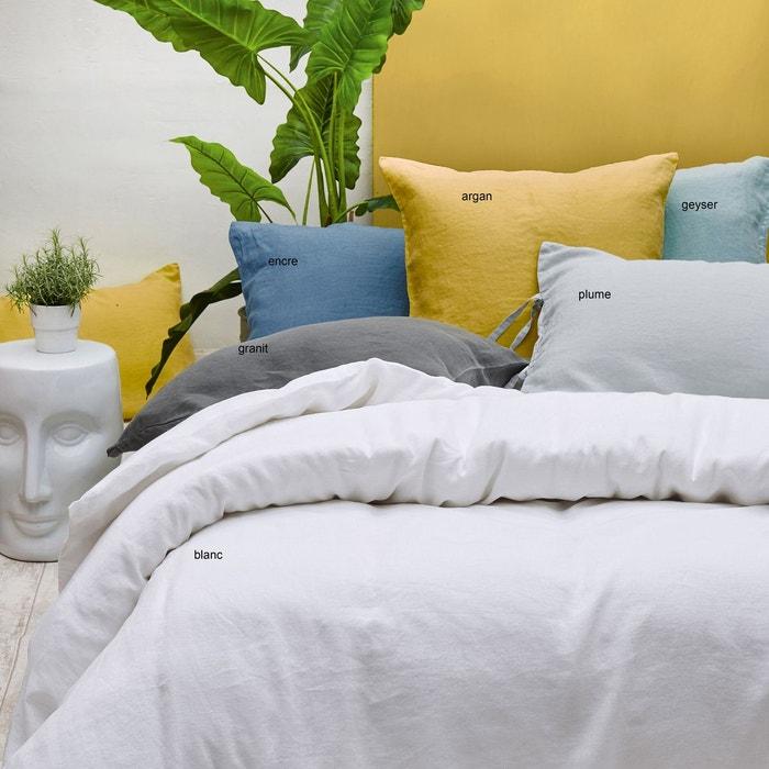 drap 240x300 lin stone washed argan couleur unique sylvie thiriez la redoute. Black Bedroom Furniture Sets. Home Design Ideas