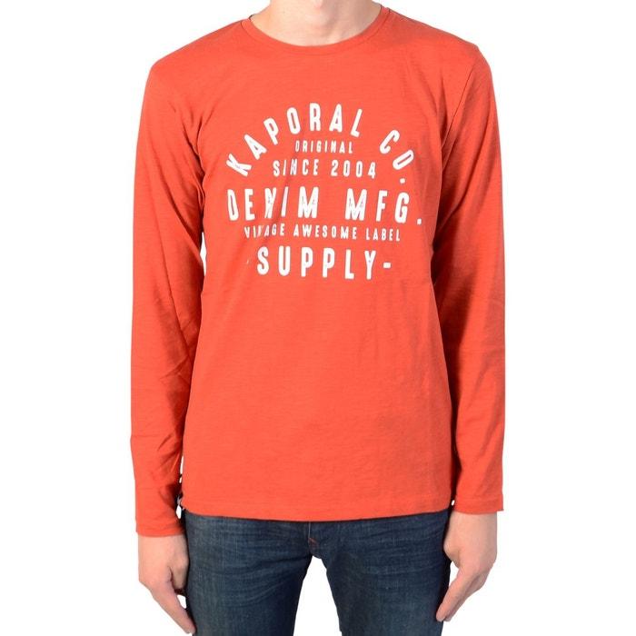 ef41f20fe3564 Tee-shirt 100% coton à manches longues mider Kaporal   La Redoute