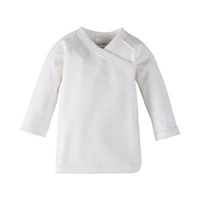 Bornino la brassière raglan à manches longues sous-vêtements bébé blanc  Bornino  05c4fe1d523