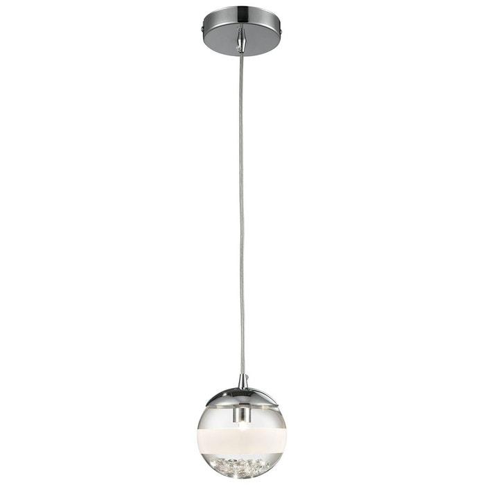 suspension dream h 70 cm chrome verre satin et crystal argent lumina la redoute. Black Bedroom Furniture Sets. Home Design Ideas