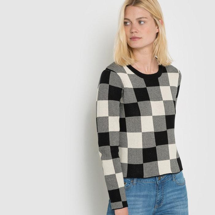 Image Krótki sweter w kratkę La Redoute Collections