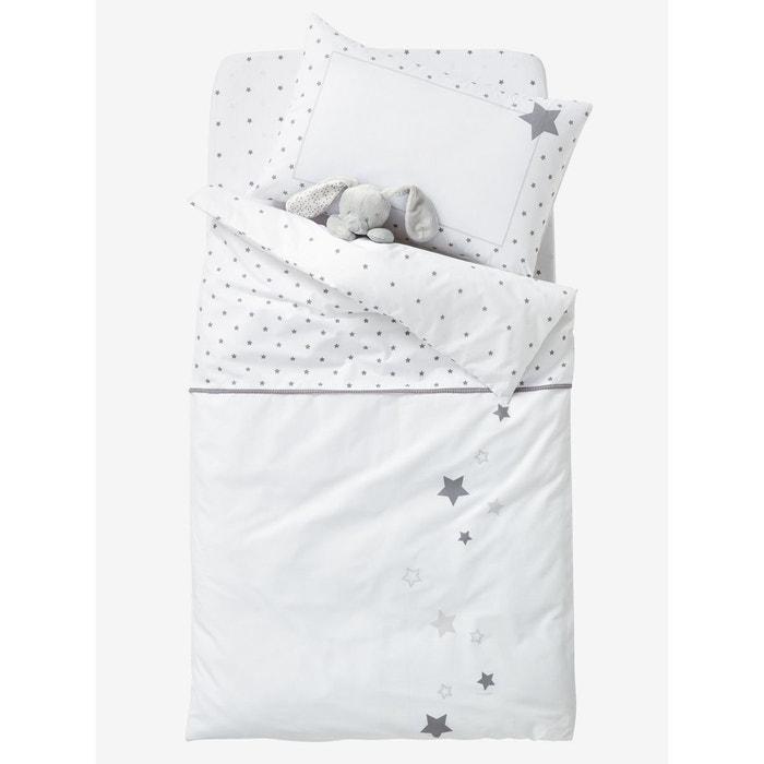 housse de couette b b pluie d 39 etoiles blanc imprim vertbaudet la redoute. Black Bedroom Furniture Sets. Home Design Ideas