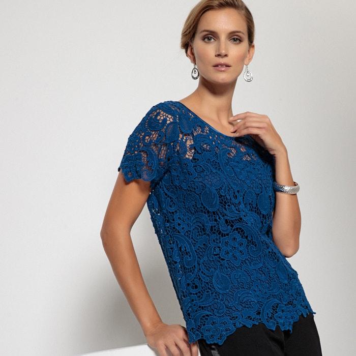 c94459d5176c Blusen-shirt, spitze aus reiner baumwolle marine Anne Weyburn   La ...