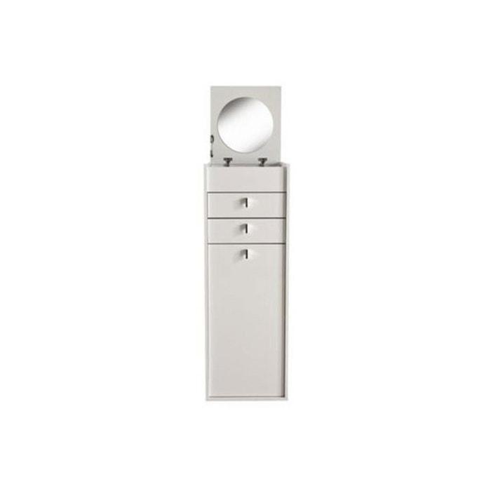 coiffeuse 2 tiroirs 1 porte blanc perle dorine blanc demeyere la redoute. Black Bedroom Furniture Sets. Home Design Ideas