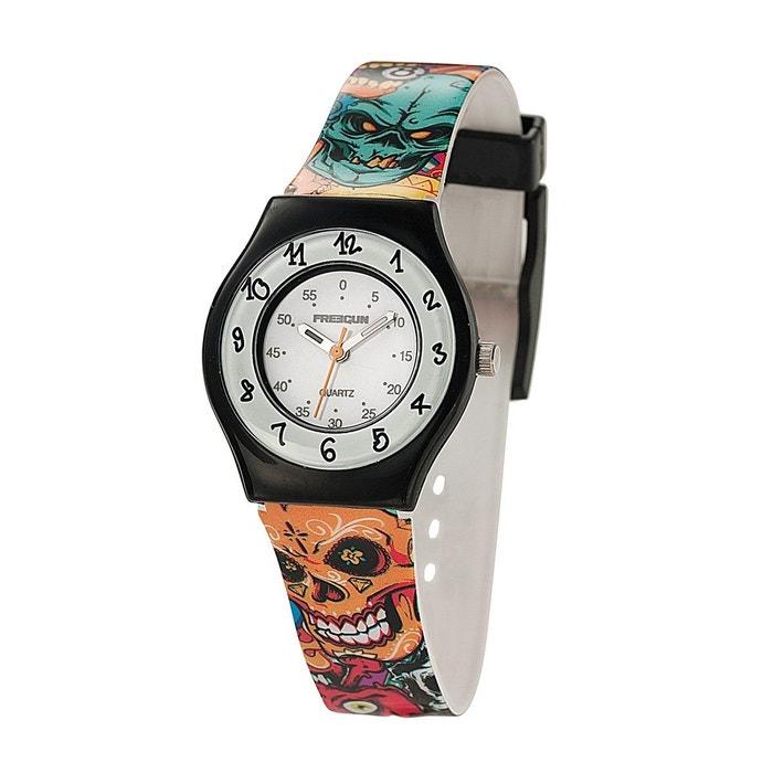 montre gar on analogique bracelet plastique boitier 26 mm hypercolor multicolore freegun la. Black Bedroom Furniture Sets. Home Design Ideas