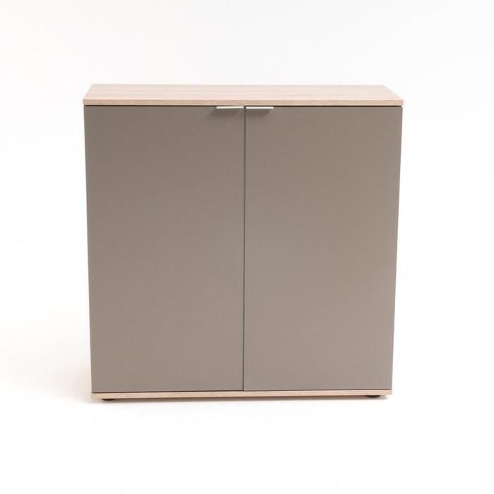 schuhschrank reynal mit 2 t ren und 4 regalb den holz hell taupe la redoute interieurs la. Black Bedroom Furniture Sets. Home Design Ideas