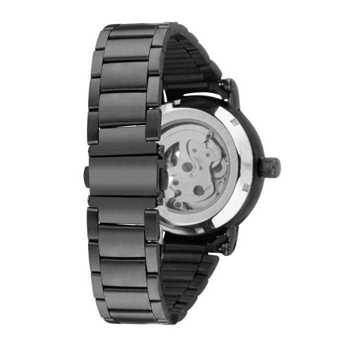 Bracelet acier noir montre homme