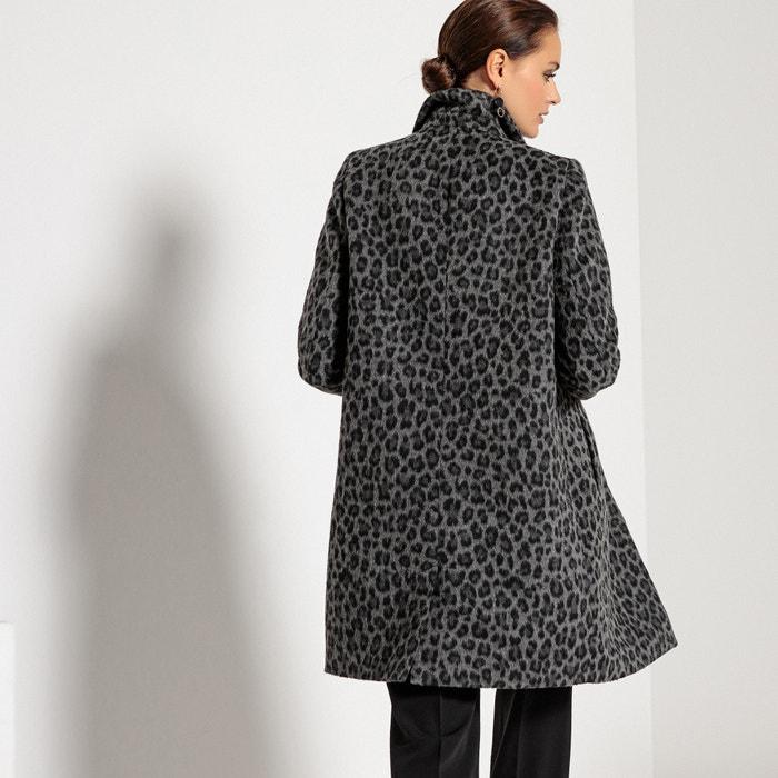 Halflange jas, dierenprint