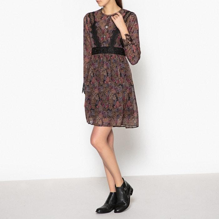 66697f97410 Платье короткое прямое с рисунком и длинными рукавами разноцветный THE  KOOPLES