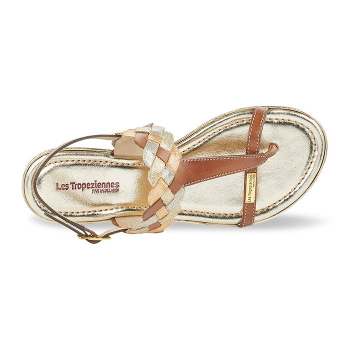 Sandales cuir entre-doigts bapo tan Les Tropeziennes Par M Belarbi