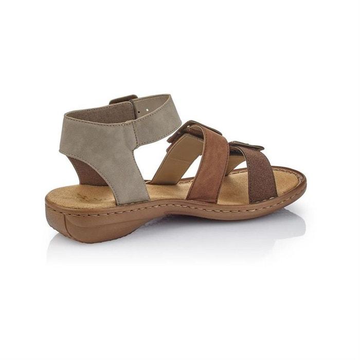 b73bd20cdb775d Sandales / nu-pieds synthetique marron Rieker | La Redoute