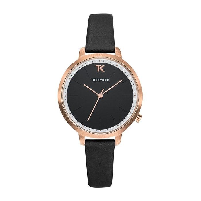 67ac5d6d45 Montre femme trendy kiss claire bracelet cuir véritable Trendy Kiss | La  Redoute
