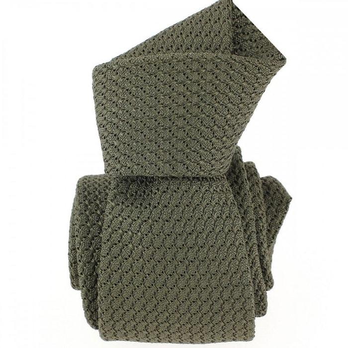 Cravate grenadine de soie, vert lichen, tony & paul vert Tony Et Paul | La Redoute