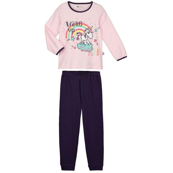 8f71613091572 Pyjama fille manches longues petite licorne rose Petit Beguin