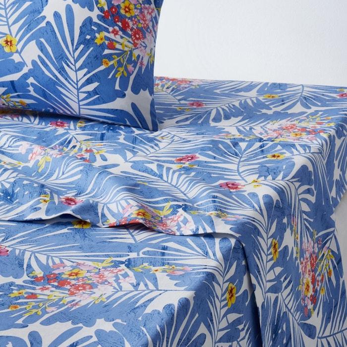 drap plat imprim alazeia imprim bleu blanc la redoute interieurs la redoute. Black Bedroom Furniture Sets. Home Design Ideas