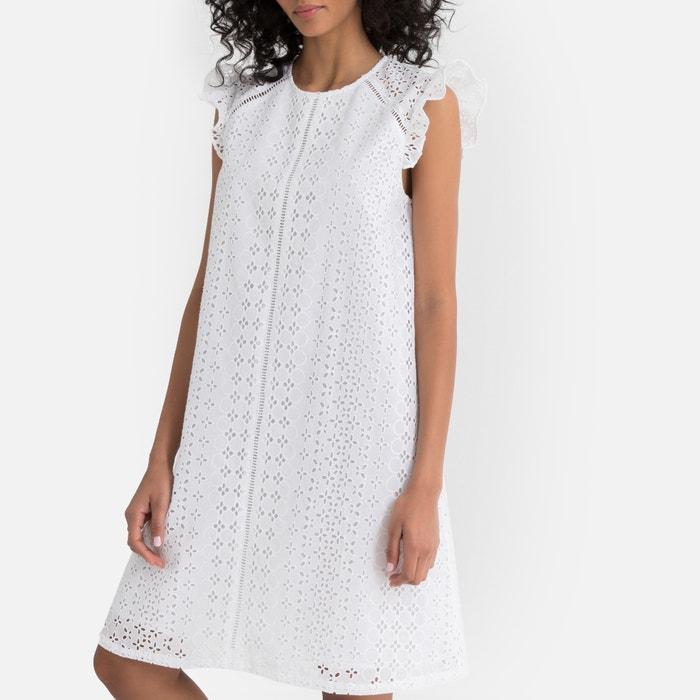 d17342c5f63 Платье с короткими рукавами и английской вышивкой Платье с короткими  рукавами и английской вышивкой LA REDOUTE