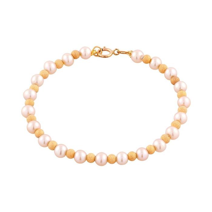 Jeu De Jeu Bracelet en or 375/1000 jaune et perle rose rose Cleor | La Redoute Choix Prix Pas Cher Livraison Gratuite Nice kPmxsirg
