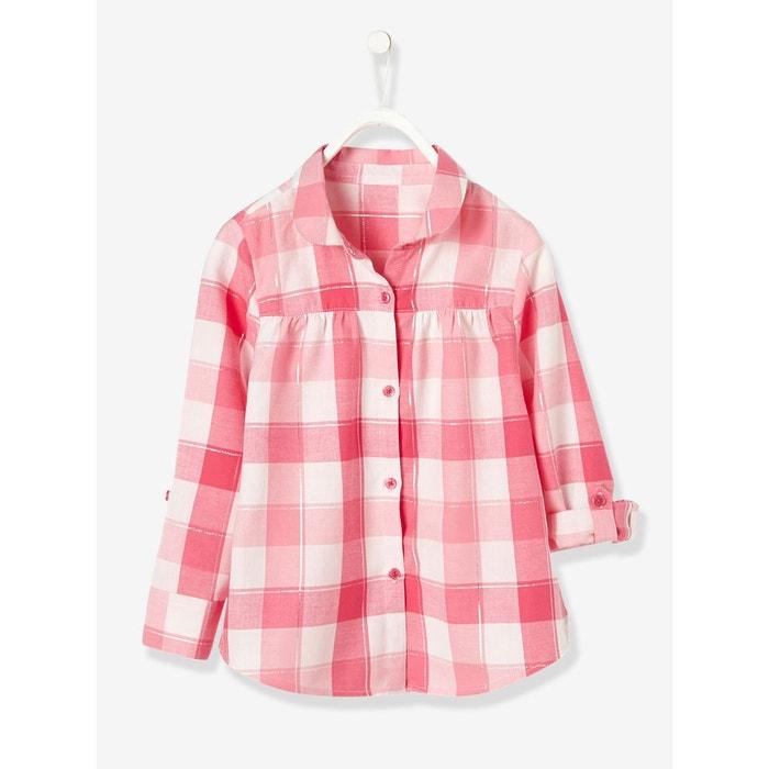 chemise fille carreaux rose carreaux vertbaudet la redoute. Black Bedroom Furniture Sets. Home Design Ideas