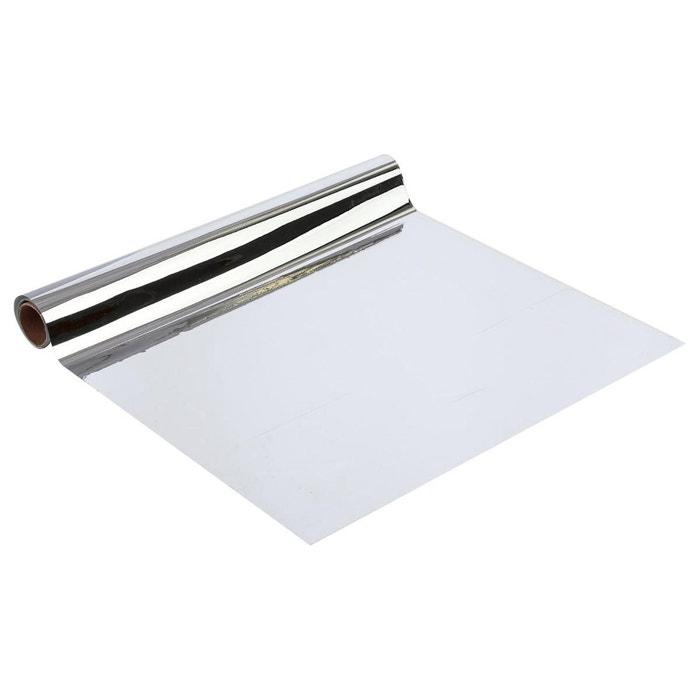 Rouleau sticker miroir 100 x 45 cm gris atmosphera la for Sticker miroir rouleau