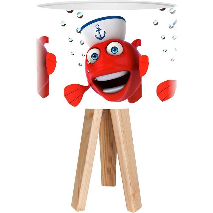 lampe de chevet kids rouge bps koncept la redoute. Black Bedroom Furniture Sets. Home Design Ideas