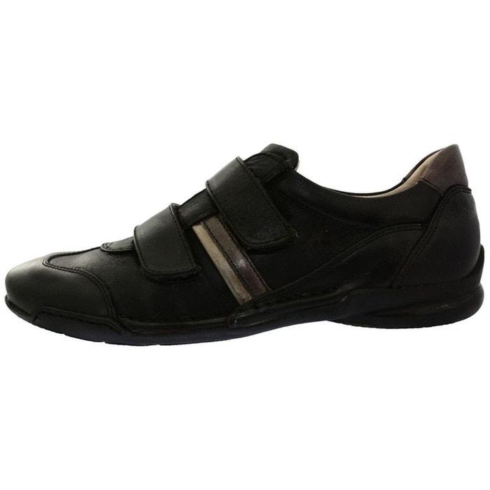 Mocassins cuir  noir Fluchos  La Redoute