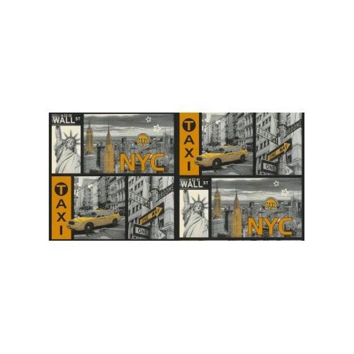 papier peint manhattan noir et jaune home maison la redoute. Black Bedroom Furniture Sets. Home Design Ideas