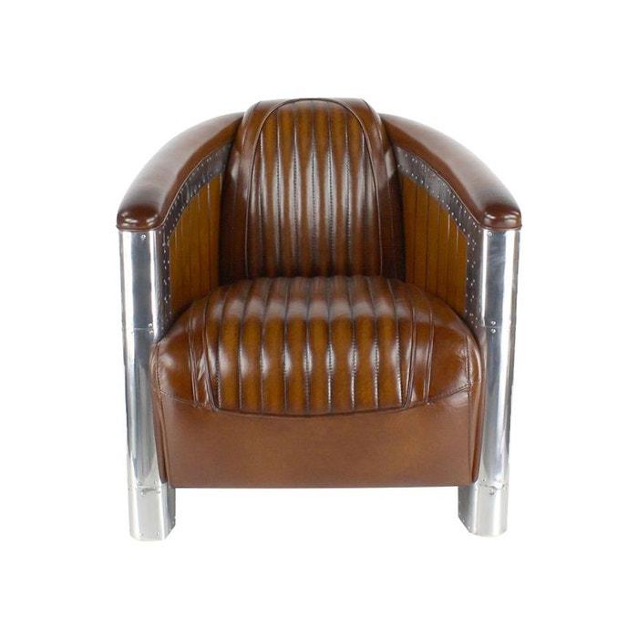 fauteuil club cuir marron cigare kha home design la. Black Bedroom Furniture Sets. Home Design Ideas